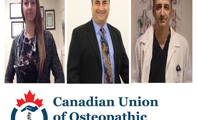 Executive board members of Canadian Union of Osteopathic Manual Practitioners