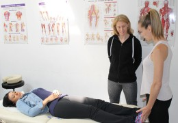 My student Pamela Crosson-Fournier is a professor now teaching cranial osteopathy. I am so proud of her