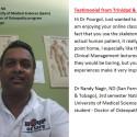 NUMSS student Dr Randy Nagir - Trinidad & Tobago
