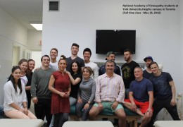 National Academy of Osteopathy Students May 18 2016