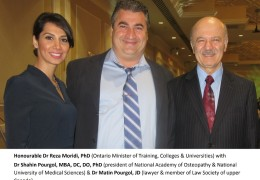 Honourable Dr Reza Moridi%2C PhD %28Ontario Minister of   Training%2C Colleges %26 Universities%29 with Dr Shahin Pourgol%2C MBA%2C DC%2C DO%2C  PhD  %28president of National Academy of Osteopathy %26 National Universit