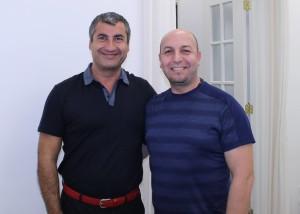 Dr Pourgol with Dr Fadi Karroum