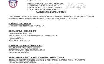 Osteopathy Association of Panama