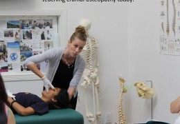Pamela Crosson-Fournier is a professor now teaching cranial osteopathy May 27 2016