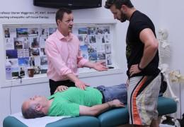 Professor Darren Wigginton teaching osteopathic soft tissue therapy
