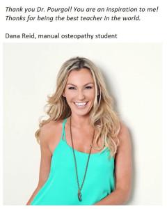 our student Dana Reid